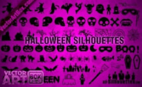 Free vector Vector Silhouettes  Halloween Silhouettes
