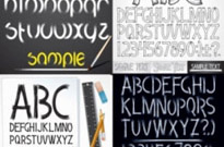 Free vector Vector misc  handdrawn style of the english alphabet vector