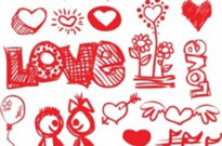 Free vector Vector Heart  handpainted red heart vector