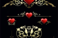 Free vector Vector pattern  heart and pattern vector
