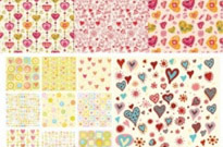 Free vector Vector background  heart background vector cute pursuit