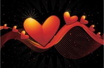 Free vector Vector background  heart-shaped vector -2 dynamic lines background