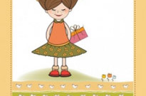 Free vector Vector cartoon  little girl cartoon 01 vector