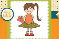 Free vector Vector cartoon  little girl cartoon 03 vector