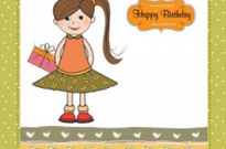 Free vector Vector cartoon  little girl cartoon 04 vector