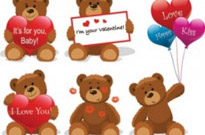 Free vector Vector misc  love for teddy bear clip art