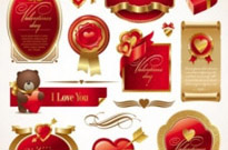 Free vector Vector misc  love the red elements vector