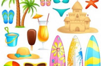 Free vector Vector misc  lovely seaside stickers 04 vector