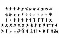 Free vector Vector people  Man & woman sign pictograms