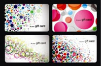 Free vector Vector misc  Modern Gift Card Templates Vector Set