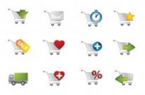 Free vector Vector icon  practical shopping cart icon vector