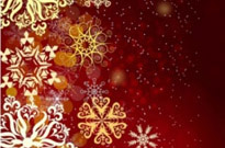 Free vector Vector background  Red christmas background with snow