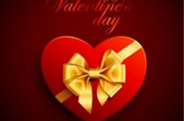 Free vector Vector Heart  Red Heart Box with Ribbon for Valentines Day