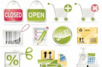 Free vector Vector icon  sale of a shopping icon vector