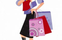 Free vector Vector people  Shopping girl
