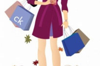 Free vector Vector people  Shopping girl and floral