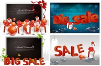 Free vector Vector misc  Shopping sales 3D text vector