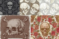 Free vector Vector background  skull theme vector background