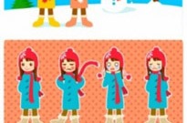 Free vector Vector people  snowman and the little girl vector