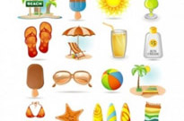 Free vector Vector icon  summer icon vector