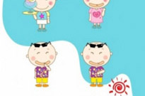 Free vector Vector people  summer in the lovely little boy and girl vector