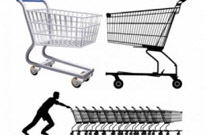 Free vector Vector misc  supermarket shopping cart vector