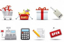 Free vector Vector icon  supermarket shopping icon vector