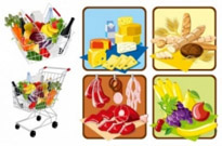 Free vector Vector misc  supermarket shopping theme vector