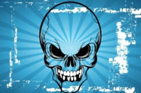 Free vector Vector cartoon  Terror Skull Cartoon