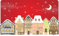 Free vector Vector background  the cartoon christmas house background 01 vector