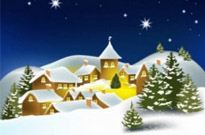 Free vector Vector background  the cartoon christmas house background 02 vector