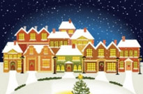 Free vector Vector background  the cartoon christmas house background 03 vector