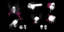 Free vector Vector misc  trend element vector skull and wings