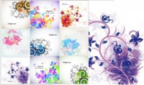 Free vector Vector flower  trend vector floral cards flower cards