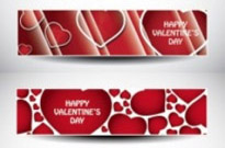 Free vector Vector banner  valentine day banner vector heart