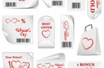Free vector Vector Heart  valentine day promotional label vector