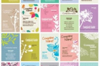 Free vector Vector floral  Vector Set of Floral Business Cards
