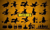 Free vector Vector Silhouettes  Vector Witches