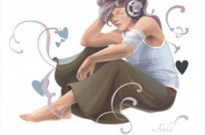 Free vector Vector people  Woman Listening To Music