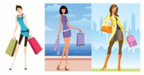 Free vector Vector people  women vector fashion shopping