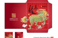 Free vector Vector misc  year of the dragon red envelope template 05 vector