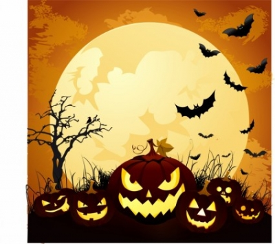 Free vector Vector misc  Moonlight Halloween Pumpkins