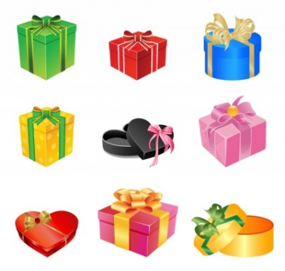Free vector Vector misc  Multicolored gift boxes with bows and ribbons