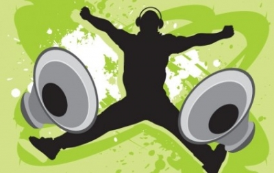 Free vector Vector misc  Music Guy with Speakers