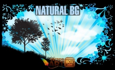Free vector Vector background  Natural Background