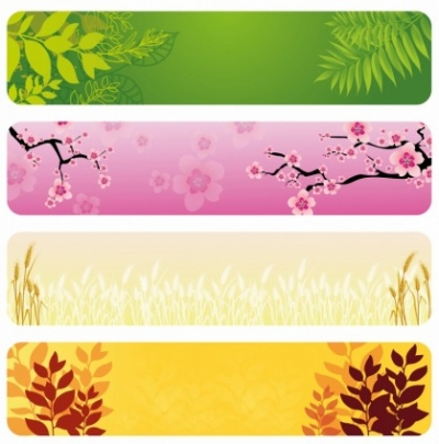 Free vector Vector banner  Natural Banners
