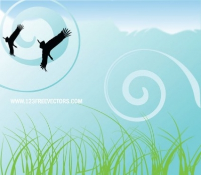 Free vector Vector landscape  Nature background free vector