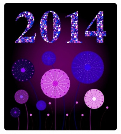 Free vector Vector misc  New Year 2014