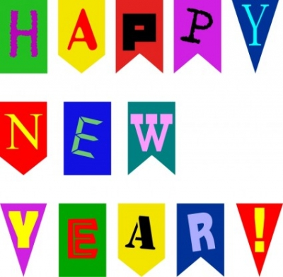 Free vector Vector clip art  New Year Flags by Rones