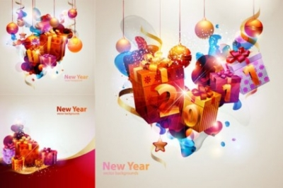 Free vector Vector misc  new year theme vector cool glare